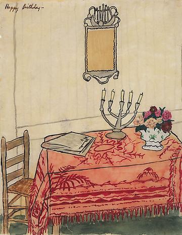 Bishop_Table_with_Candelabra_nd_watercolor_and_gouache0